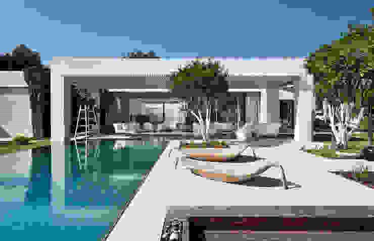 Mit der Natur verbunden… .. Moderne Pools von Ecologic City Garden - Paul Marie Creation Modern