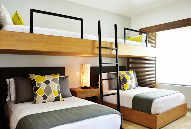Casa Vista Lagos Dormitorios infantiles modernos de Excelencia en Diseño Moderno Madera Acabado en madera