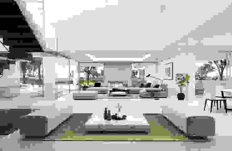 Nowoczesny salon od Otto Medem Arquitecto vanguardista en Madrid Nowoczesny