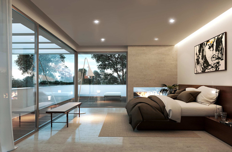 ห้องนอน โดย Otto Medem Arquitecto vanguardista en Madrid, โมเดิร์น