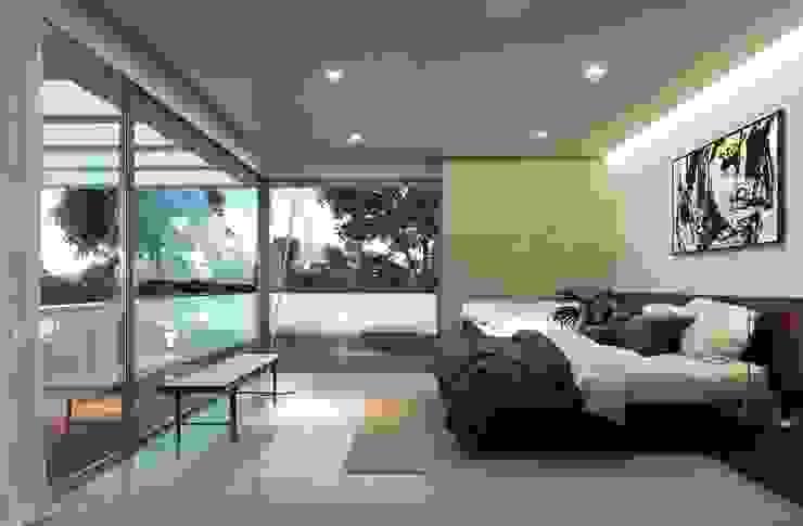 غرفة نوم تنفيذ Otto Medem Arquitecto vanguardista en Madrid, حداثي