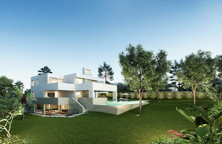 Single family home by Otto Medem Arquitecto vanguardista en Madrid, Modern