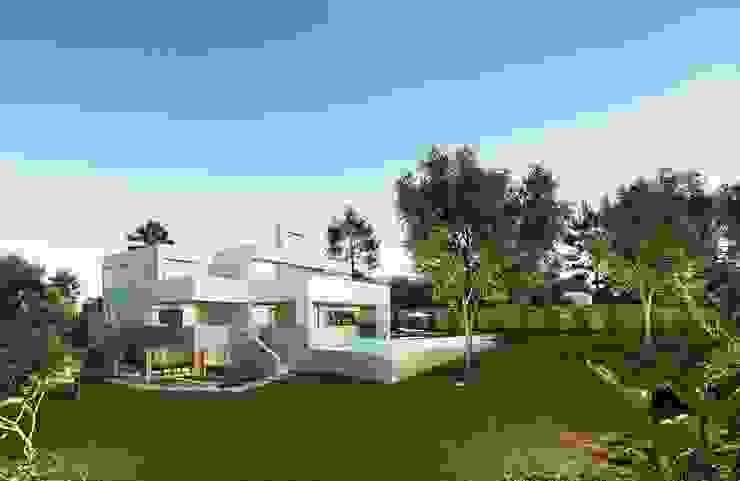 บ้านเดี่ยว โดย Otto Medem Arquitecto vanguardista en Madrid, โมเดิร์น