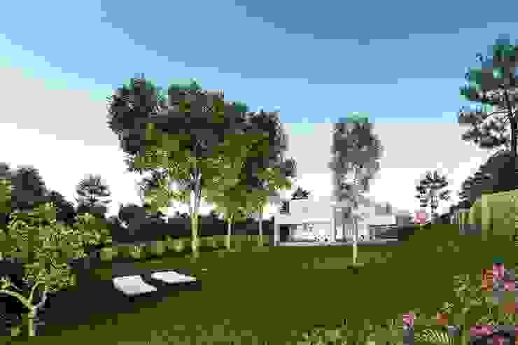 Casa de obra nueva con jardín de Otto Medem Arquitecto vanguardista en Madrid Moderno