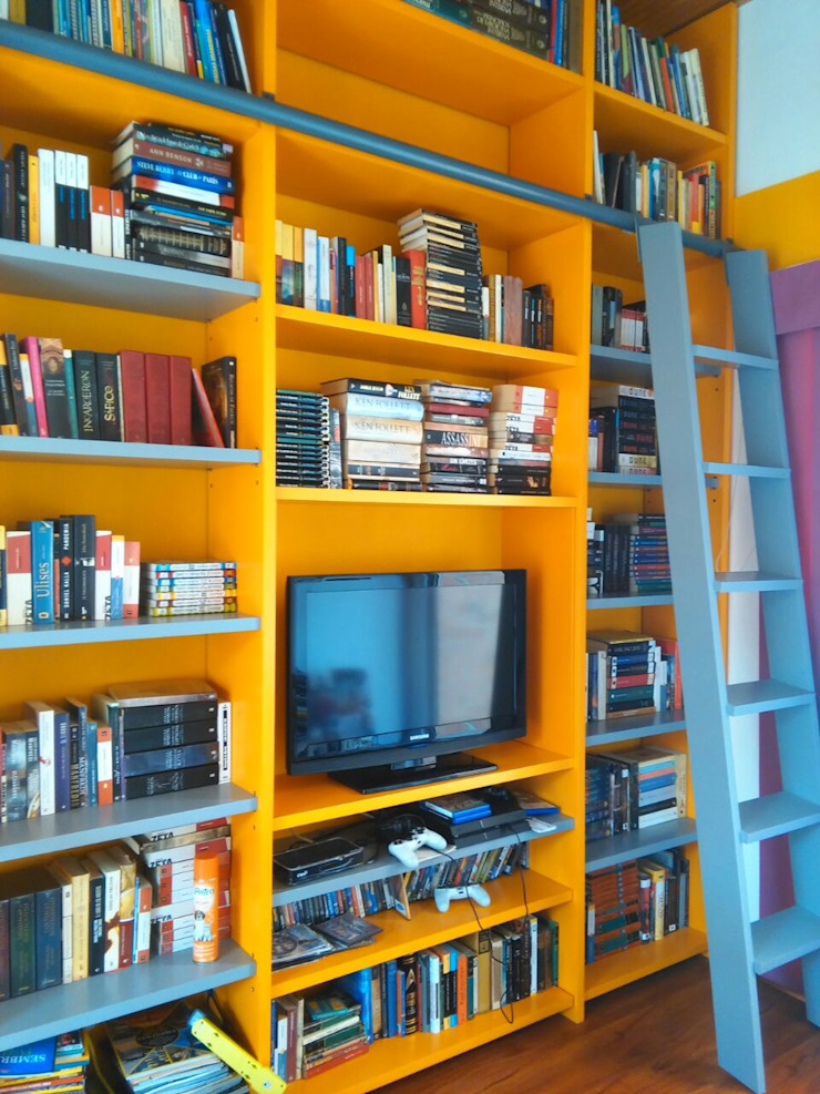 Biblioteca de Madera & Diseño.co Moderno Madera Acabado en madera