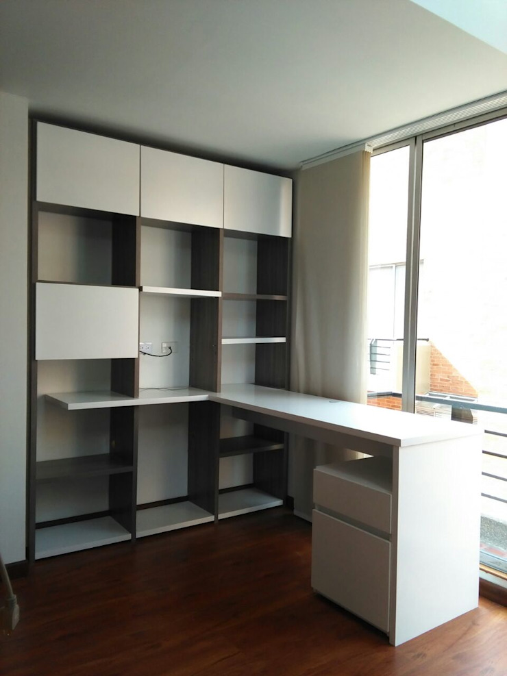 Escritorio biblioteca de Madera & Diseño.co Moderno Aglomerado
