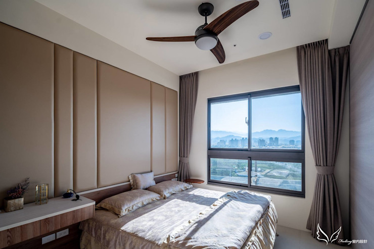 Спальня в скандинавском стиле от Feeling 室內設計 Скандинавский