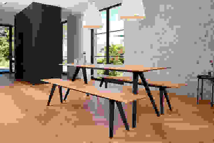 Bank und Tisch klappbar, für innen und außen aus Massivholz und Metall Neuvonfrisch - Möbel und Accessoires EsszimmerTische Holz