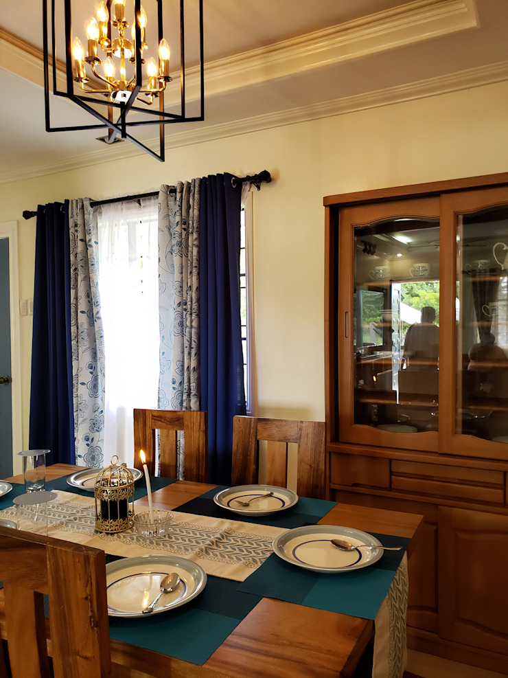 Cozy Cottage Colonial style dining room by Geraldine Oliva Colonial