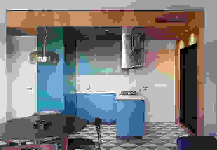 Viale Tirreno Massimo Zanelli architetto Cucina attrezzata Legno composito Blu