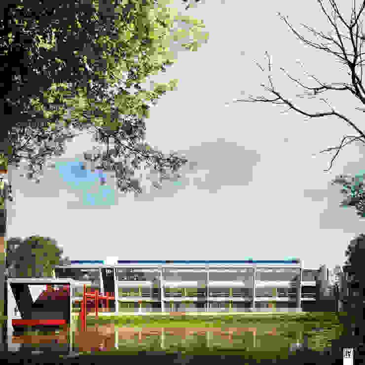 CGI – Incolballet Paredes y pisos de estilo moderno de ArmyOne Moderno