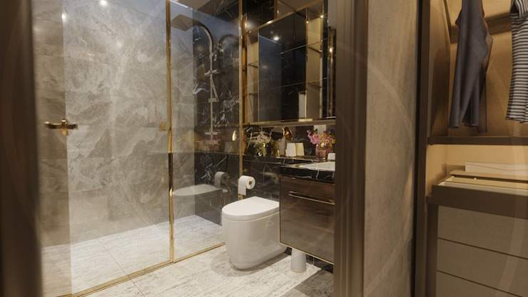Banheiros modernos por Lego İç Mimarlık & İnşaat Dekorasyon Moderno Cerâmica