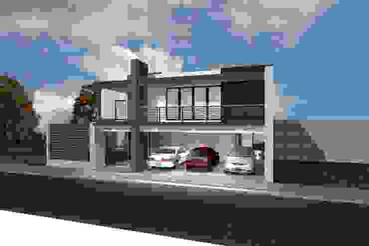 grupo ME Arquitectos Single family home Bricks Beige