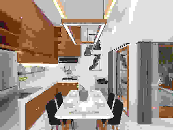 Dining Room Ruang Makan Tropis Oleh SEKALA Studio Tropis