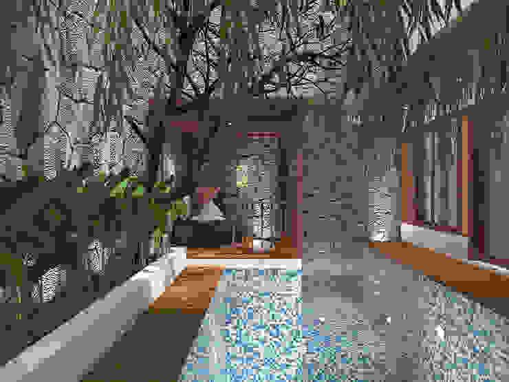 Swimming Pool Kolam Renang Tropis Oleh SEKALA Studio Tropis Batu