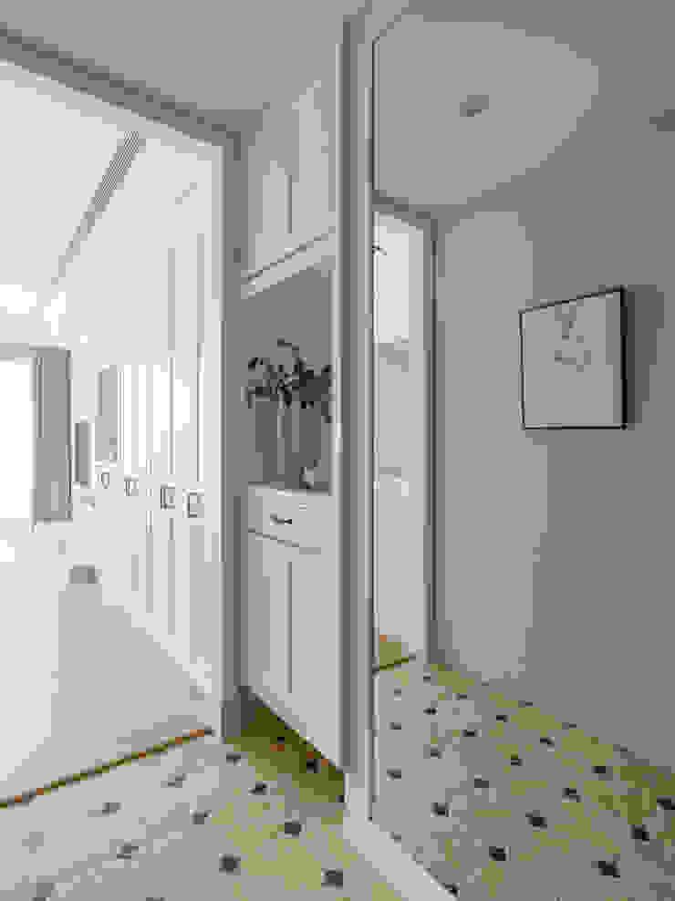 玄關 存果空間設計有限公司 殖民地風玄關、階梯與走廊