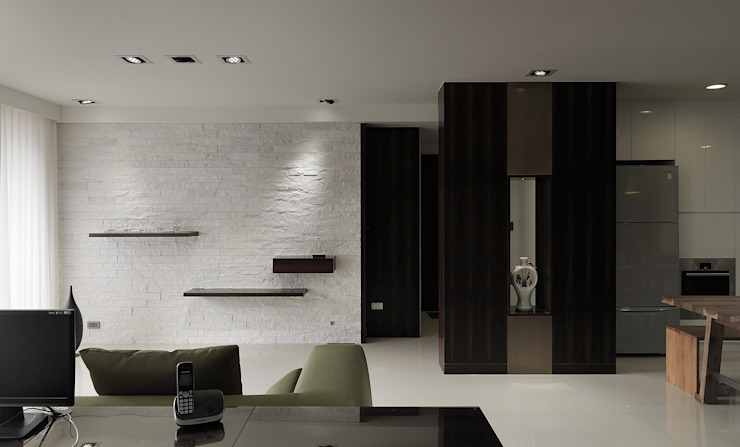 三峽洪宅 现代客厅設計點子、靈感 & 圖片 根據 形構設計 Morpho-Design 現代風
