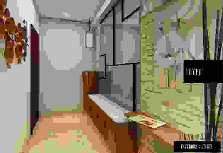 FOYER UNIT Modern Corridor, Hallway and Staircase by Aikaa Designs Modern