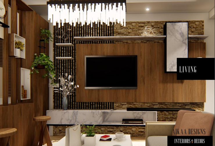LIVING ROOM Modern living room by Aikaa Designs Modern