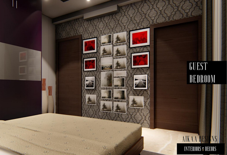 GUEST BEDROOM Modern style bedroom by Aikaa Designs Modern
