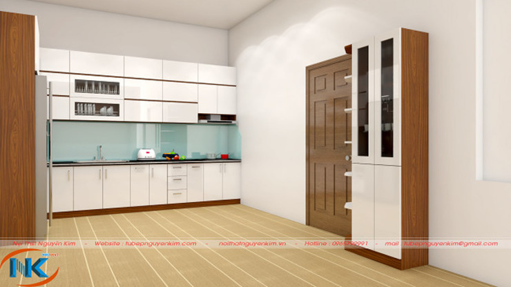 Tủ bếp gỗ acrylic hà nội không đường line giá tốt nhất tháng 7 bởi Nội thất Nguyễn Kim