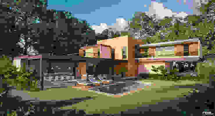 Maisons modernes par Carlos Eduardo de Lacerda Arquitetura e Planejamento Moderne
