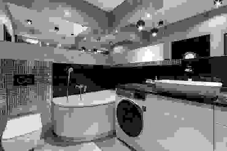Apartament w Gdyni Nowoczesna łazienka od Lux Interiors - projektowanie i aranżacja wnętrz Gdańsk, Gdynia, Sopot Nowoczesny