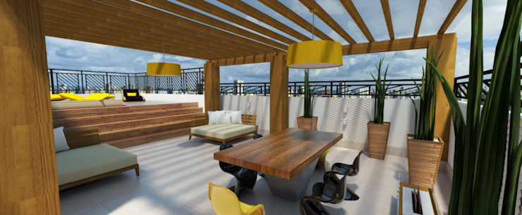 Cobertura Varandas, alpendres e terraços modernos por Mari Milani Arquitetura & Interiores Moderno