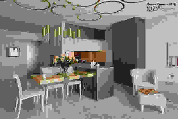 现代客厅設計點子、靈感 & 圖片 根據 (DZ)M Интеллектуальный Дизайн 現代風