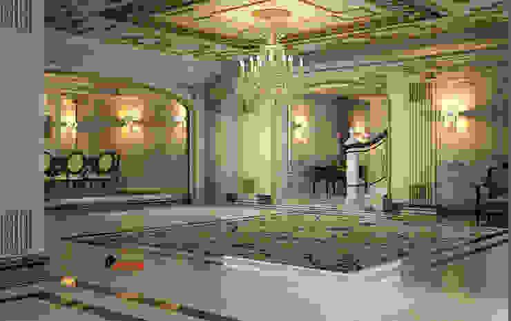 entrance :  الممر والمدخل تنفيذ smarthome, كلاسيكي رخام
