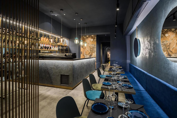 Kyo - sushi & more: Spazi commerciali in stile  di M&M STUDIO,