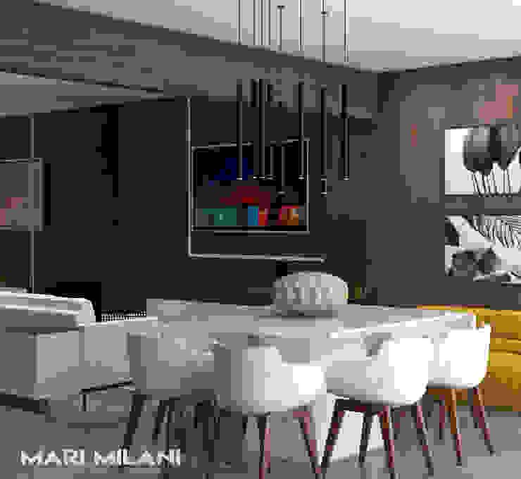 Sala de jantar moderna Mari Milani Arquitetura & Interiores Salas de jantar modernas