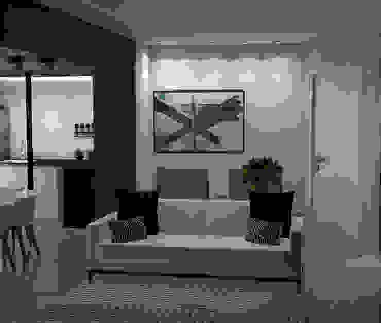 Sala de estar integrada Mari Milani Arquitetura & Interiores Salas de estar modernas