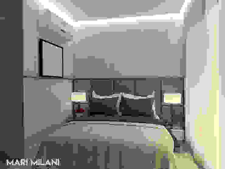 Quarto casal Mari Milani Arquitetura & Interiores Quartos pequenos