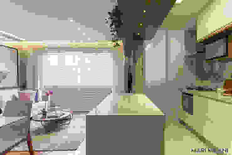 Apartamento pequeno Mooca por Mari Milani Arquitetura & Interiores Moderno