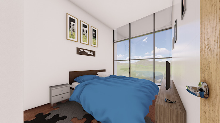 Modern Bedroom by Arq. Bruno Agüero Modern