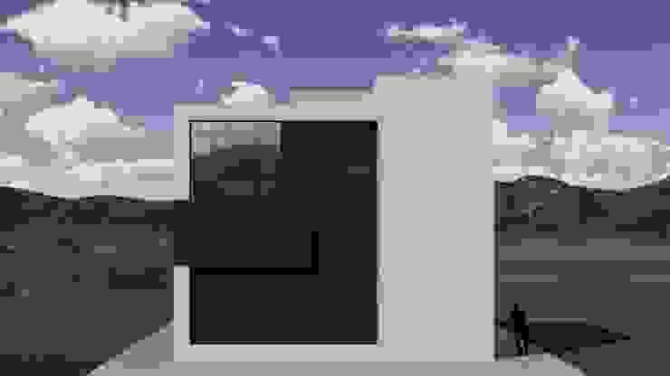 Elevación lateral izquierda de Arq. Bruno Agüero Moderno