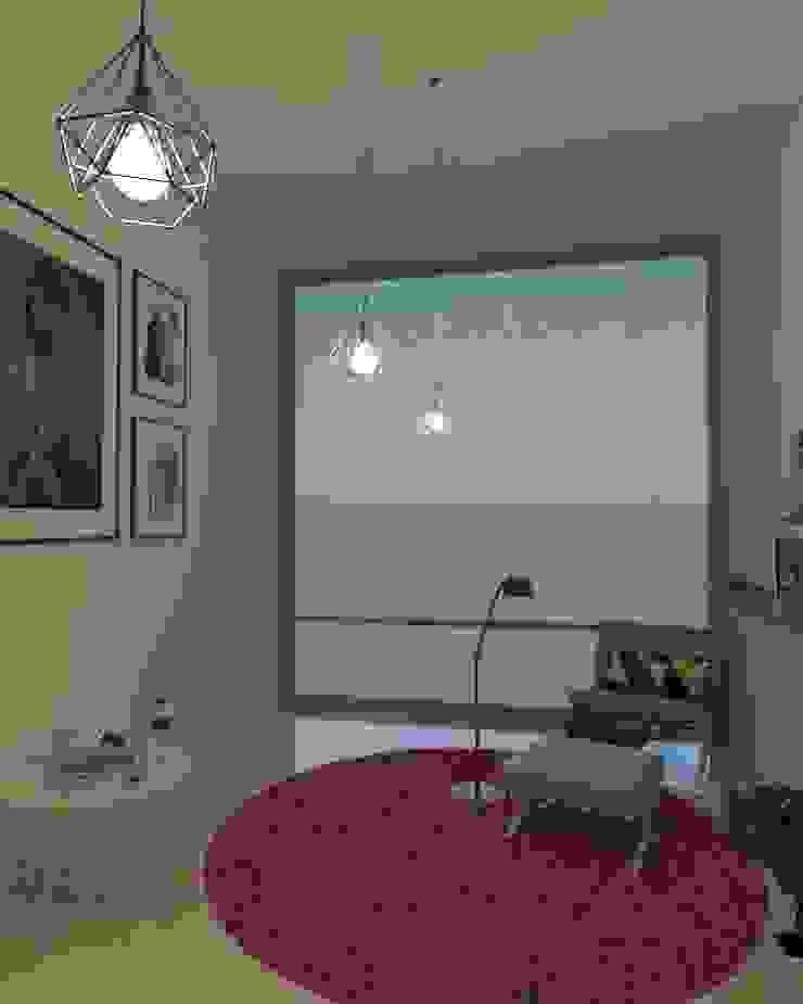 Interiorismo de ambiente de estudio Pasillos, vestíbulos y escaleras modernos de Arq. Bruno Agüero Moderno