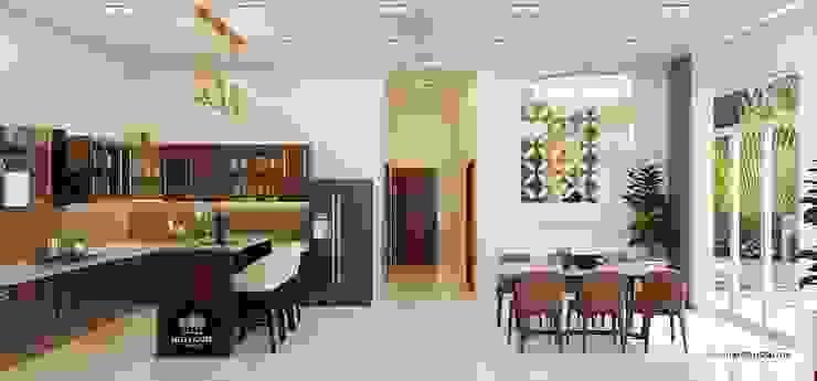 Thiết kế nội thất biệt thự vườn 1 tầng tại Long An bởi NEOHouse