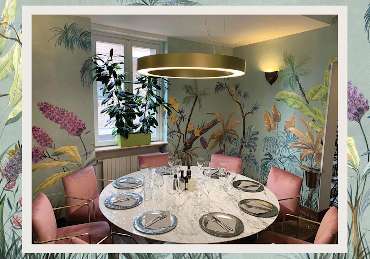 Papillon Bistrot by Unica Arredamenti Modern Walls and Floors by Tecnografica Modern