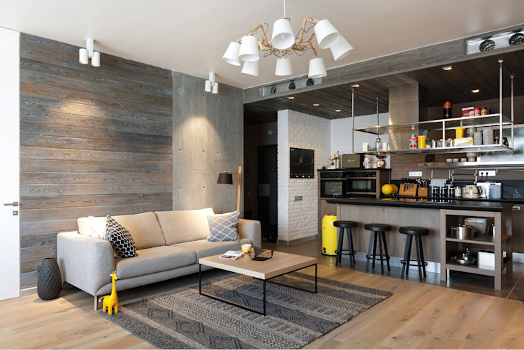 Living room by Interior designers Pavel and Svetlana Alekseeva, Industrial