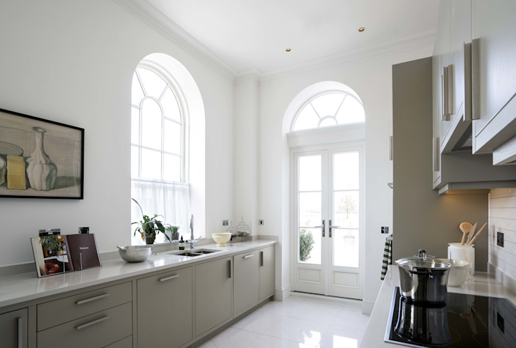 Georgian Sash Windows In Kitchen Marvin Windows and Doors UK Jendela kayu Kayu Buatan White
