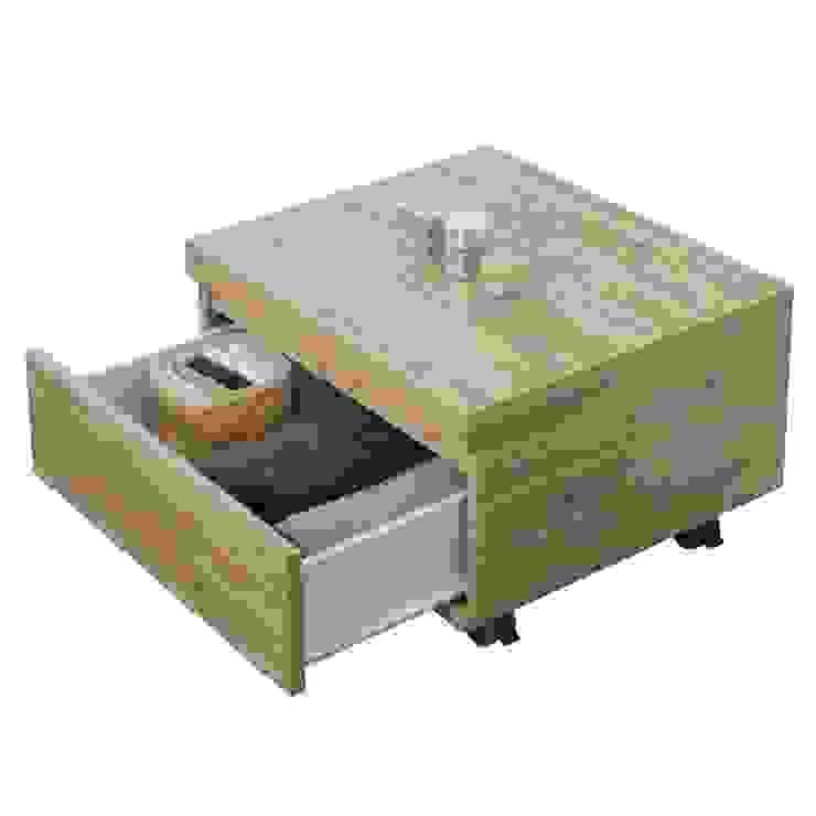 Cassettiera su Ruote in Nobilitato Melaminico Colore Rovere di Bordeaux Inbagno BagnoContenitori Legno Effetto legno