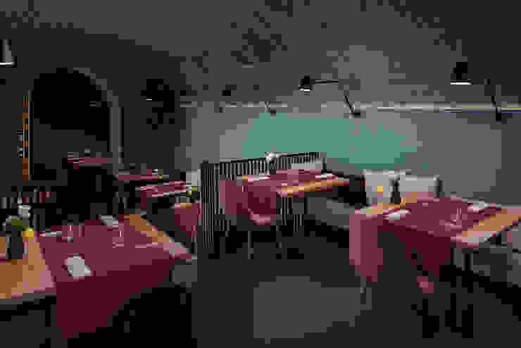 Sala manuarino architettura design comunicazione Gastronomia in stile minimalista Pietra Verde