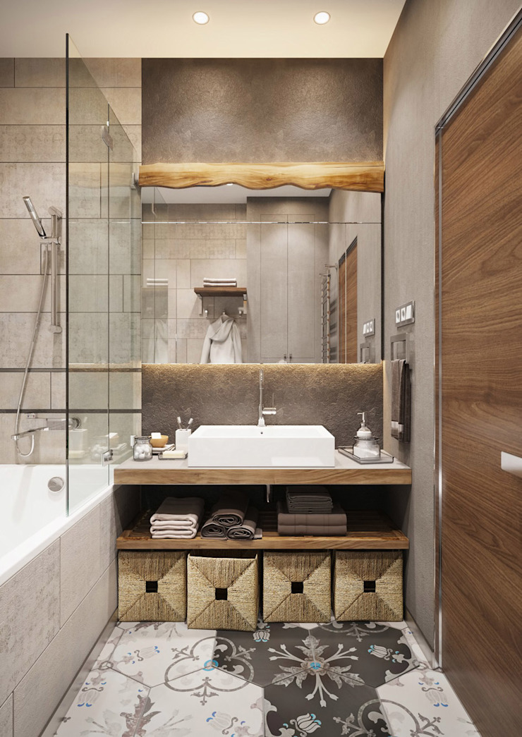 Post Modern Residency ACOR HOME LIFE SOLUTIONS Colonial style bathroom