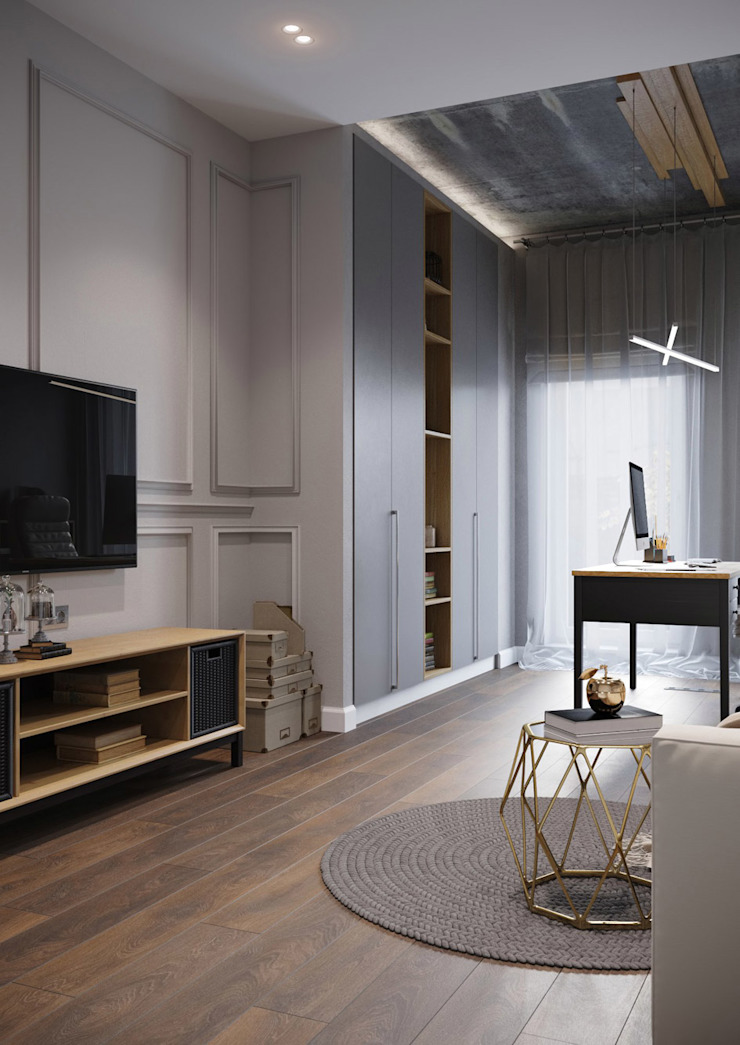 Post Modern Residency ACOR HOME LIFE SOLUTIONS Colonial style study/office