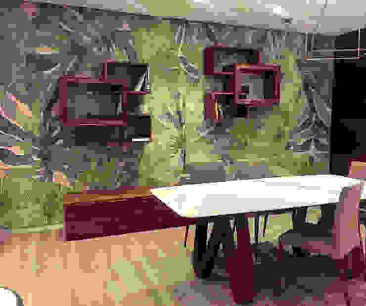 Arredamenti Vottero Tecnografica Pareti & Pavimenti in stile tropicale Verde