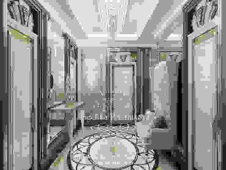 Дизайн-проект интерьера квартиры в ЖК Мосфильм в стиле ар-деко Коридор, прихожая и лестница в классическом стиле от Дизайн-студия элитных интерьеров Анжелики Прудниковой Классический