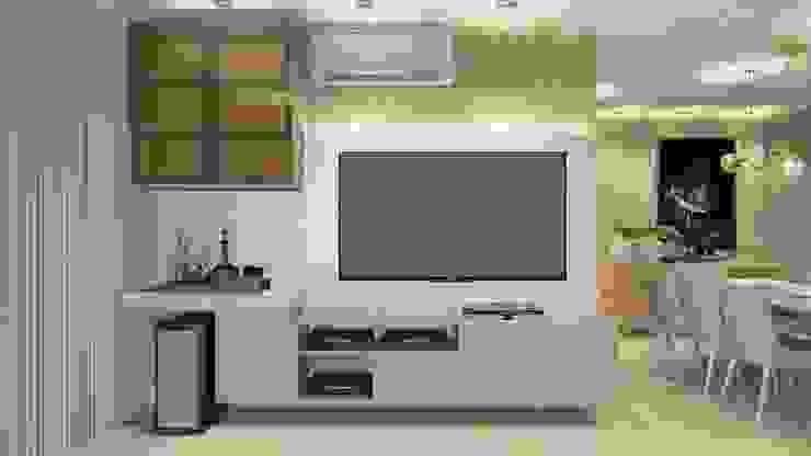Lacerda Arquitetos Associados Salas de estilo moderno