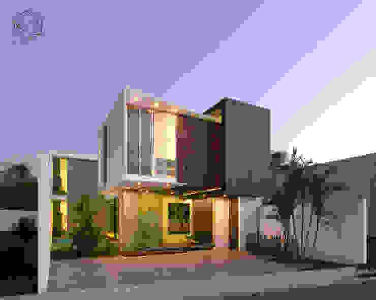 Visualización de fachada principal de R20 Arquitectos